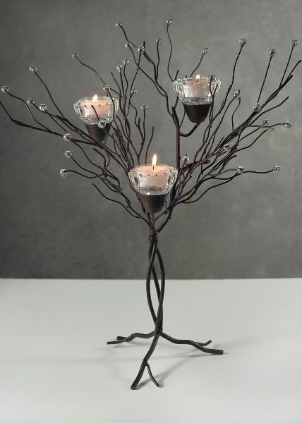"""Centerpiece: 16"""" Tabletop Metal Twig Tree Candle Holder $13"""