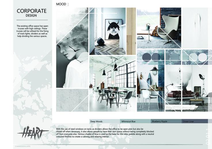 2015 Graduation Portfolio - BHC DESIGN SCHOOL Project: Corporate  Presentation: Mood Board Student: Aimee De Villiers