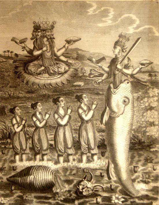 Matsya Avatar    In Hindu mythology there are four eras [yuga] – Satya yuga, Treta yuga, Dwapara yuga and Kali yuga. Each Yuga is supp...