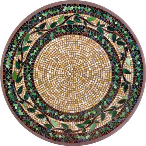 KNF Laurel Brown Mosaic Table
