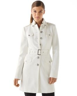 White House | Black Market Ecru Military Coat - fits beautifully, but I could never keep it clean!