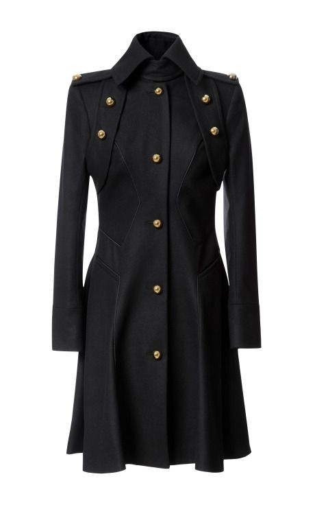 Fashion Month Must: Wool Blend Military Style Coat by Prabal Gurung - Moda Operandi