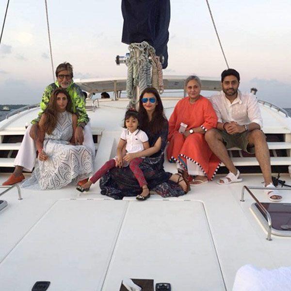 Bachchans set sailing on Abhishek Bachchan's 40th birthday