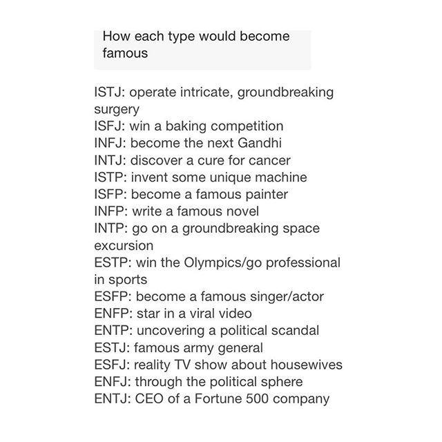+ Being the next Gandhi would be great, if not unrealistic.  — #myersbriggs #psychology #16personalities #infj #infp #enfj #enfp #intj #intp #entp #estp #istp #istj #isfj #isfp #mbti