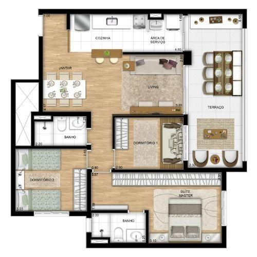 Trend Home & Office - apartamentos na Vila Mathias (Santos) | Real Imóveis