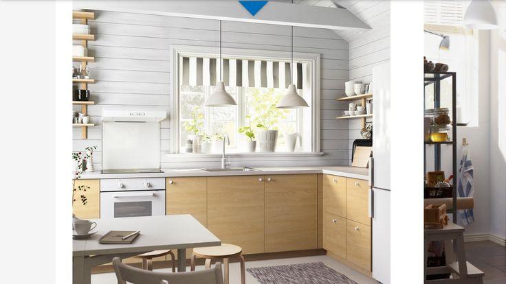 Ikea Haganas bříza dýha skříňky rekonstrukce táta Pinterest - ikea küche värde katalog