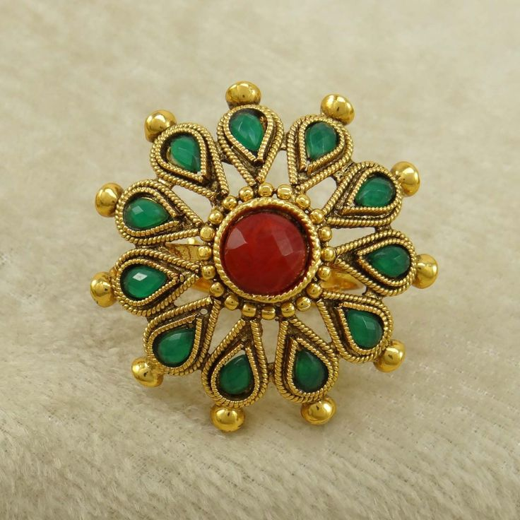 Indian Women Wedding Kundan #Ring