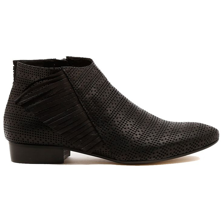 VAINO by Beltrami.   Here's an amazing ankle boot made extra special with a mix up of the season's hottest textures, pin punching and fabulous fringing! For a great transitional look, wear them with a light knit, skinny denim jeans and your best bag.  2cm heel. Leather upper, leather lining. Manmade sole. Made in Italy. http://www.cinori.com.au/made-in-italy/vaino/w1/i1207261_1006243/