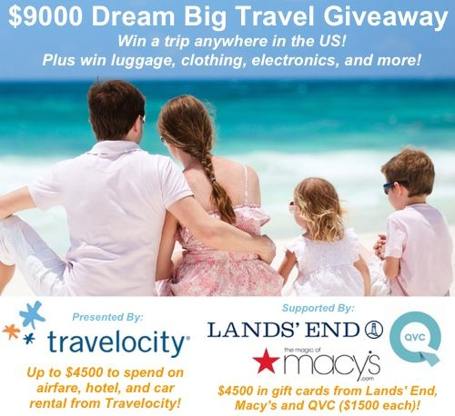 Dream Big Travel Sweepstakes – Win A Trip Anywhere In The US ....  I need a VACATION!!! My husband needs a VACATION. I DON'T CARE WHERE. Well, I really do.