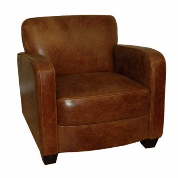 Roger Brown Cerate Leather Club Chair   Modish Living