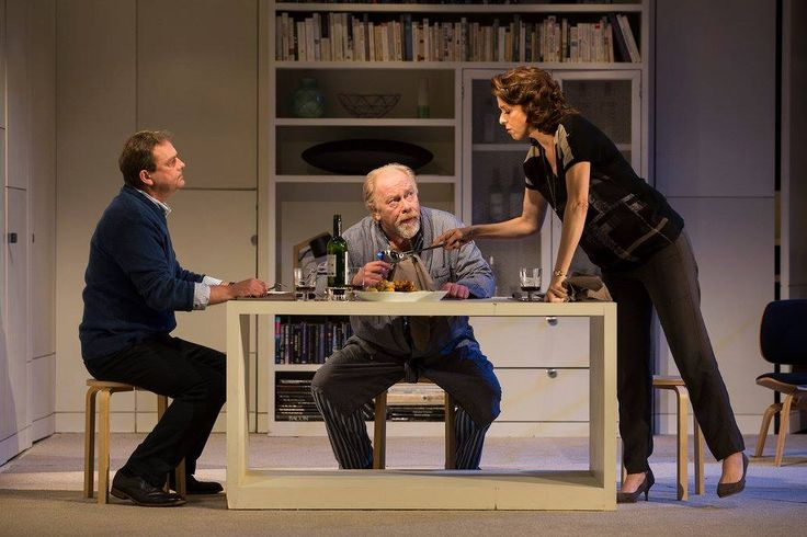Simon O'Gorman, Owen Roe and Fiona Bell in The Father by Florian Zeller in a translation by Christopher Hampton.  Picture by Pat Redmond
