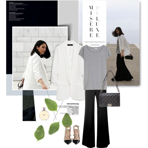 A fashion look from March 2016 by stellaasteria featuring Acne Studios, Zara, E L L E R Y, Valentino and Chanel