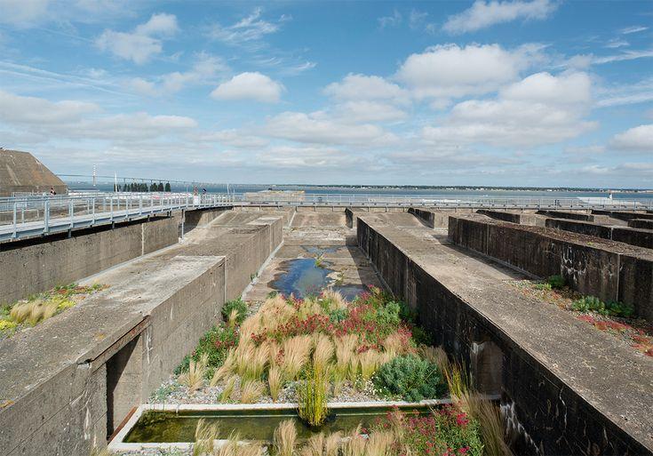À Saint-Nazaire<br/>Toit de la base sous-marine, découvrez Le Jardin du Tiers-Paysage, de Gilles Clément, œuvre de la collection permanente d'art…