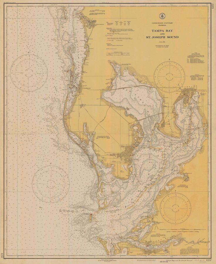 Tampa Bay Florida Historical Map - 1935