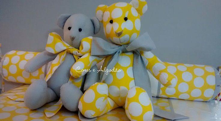 Ursinho de pano (Teddy) www.coresealgodao.com.br