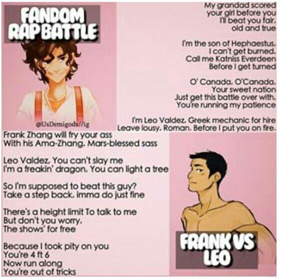 Fandom Rap Battle: Leo vs Frank. Who won?