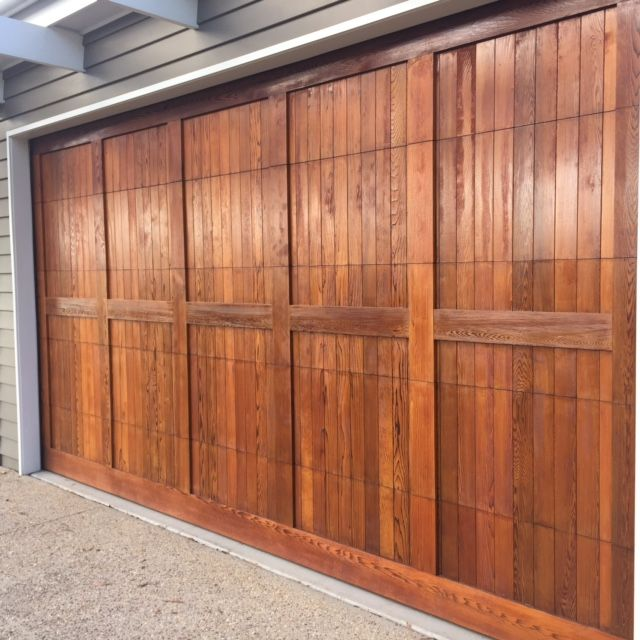Garage Doors with Quantum Timber Finishes GOLD