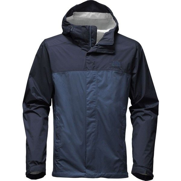 The North Face Venture 2 Hooded Jacket ($99) ❤ liked on Polyvore featuring men's fashion, men's clothing, men's outerwear, men's jackets, the north face mens jackets, mens lightweight waterproof jacket, mens jackets and mens windproof jacket