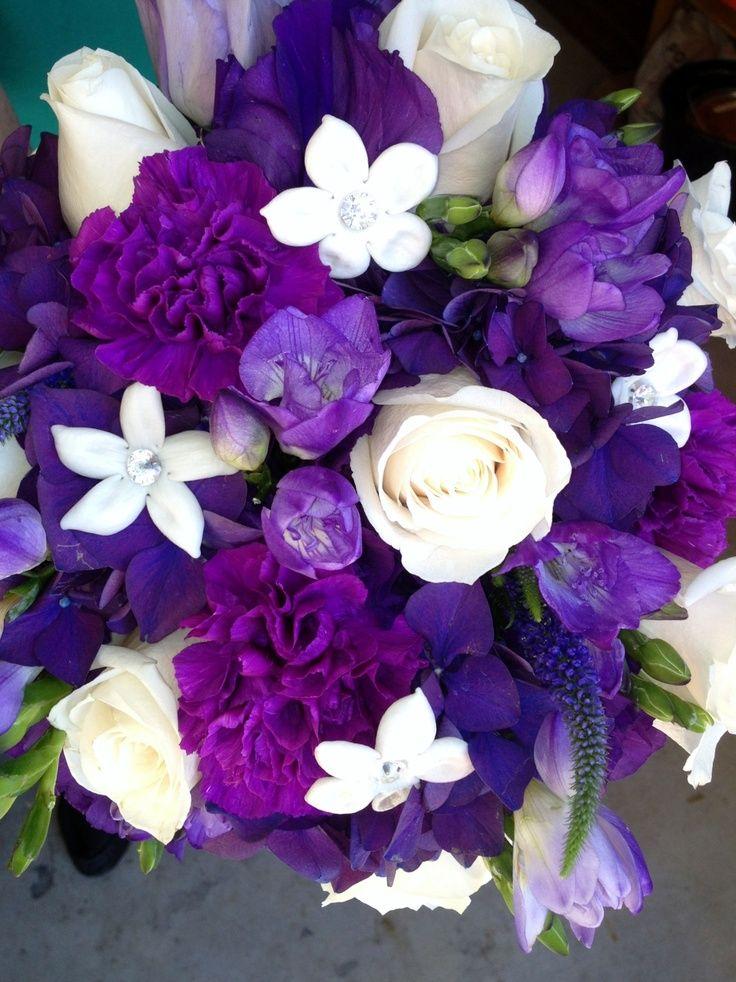 Purple Hydrangea Wedding Bouquets | Leah's bouquet - made from purple hydrangea, ... | Wedding Flower I...