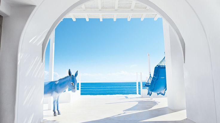 Mykonos Blu Luxury Hotel | Absolute white and blue