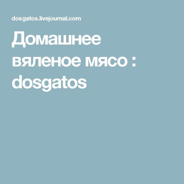 Домашнее вяленое мясо : dosgatos