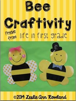 Need+a+cute+craft+for+springtime?+These+adorable+bees+are+perfect!Happy+Teaching!Leslie+Ann+