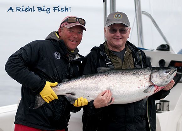 A Riehl Big Fish! Wayne Riehl caught this chunky 40-pound spring at Parker Point, Haida Gwaii with the help of guide Jorgen Anderson. http://www.peregrinelodge.com/blog.php?p=252