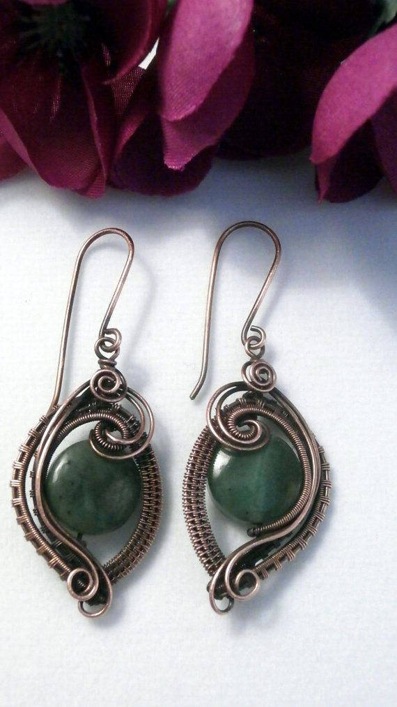 61 best Wire wrapped earrings images on Pinterest | Wire earrings ...