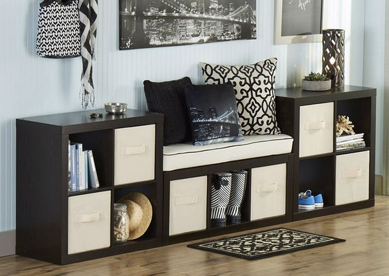 If you're building an entry way on a budget, our cube organizers and home decor can be combined to create a lasting impression with any visitor.: