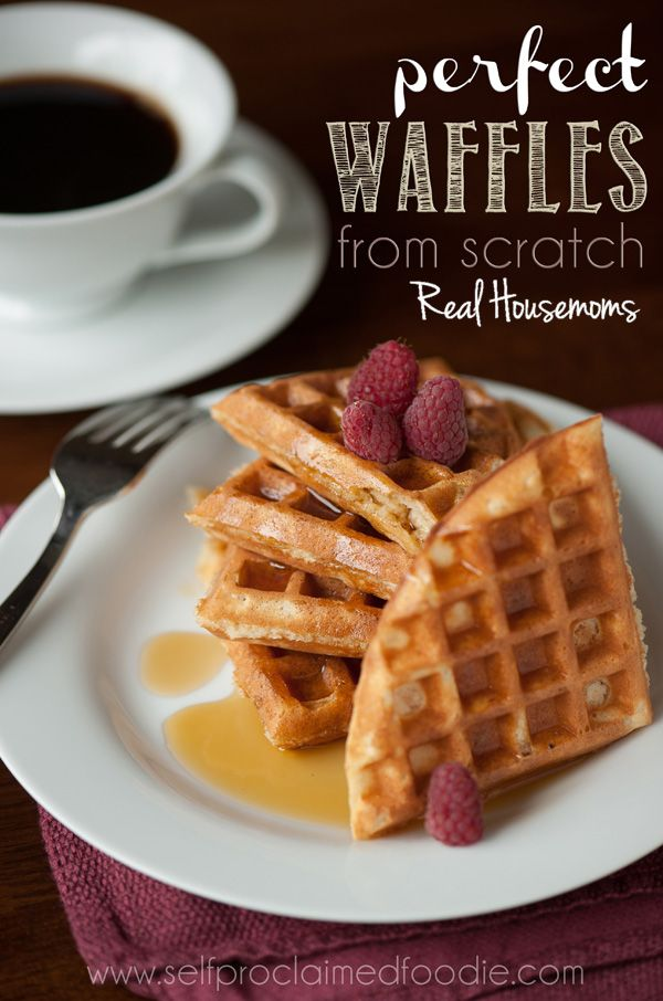 These are really tasty! The second time I made them I used coconut milk (canned) instead of milk (I didn't have any): They came out great both times! Perfect Waffles from Scratch | Real Housemoms