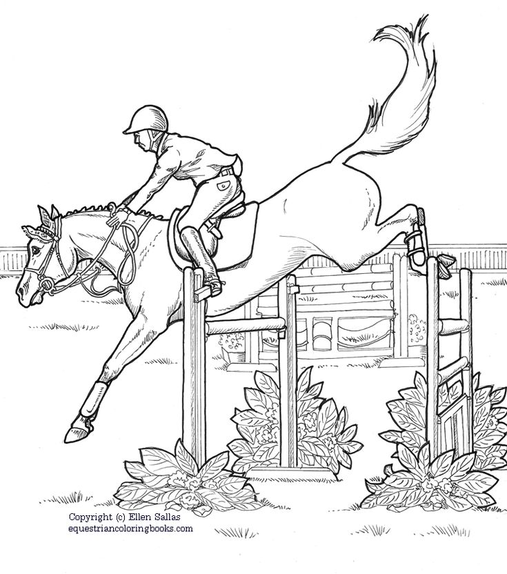 eventing coloring pages - photo#5