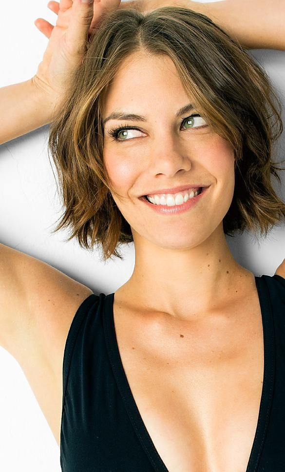 Lauren Cohan, aka Maggie from The Walking Dead - great chin length bob