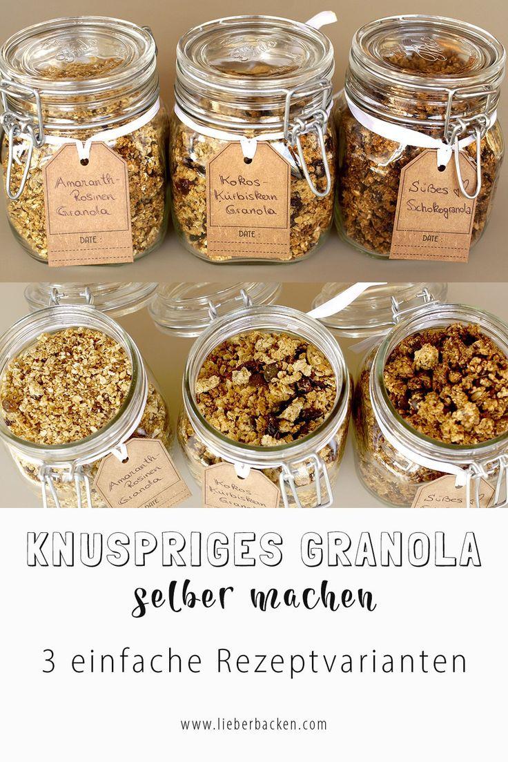 Knuspriges Granola selber machen & zum Frühstück oder als Dessert genießen