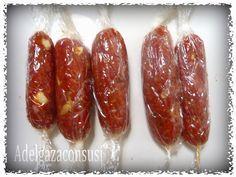 Chorizos light de ternera y pollo (65gr)   Cals: 103kcal | Grasa: 4,13g | Carbh: 0,00g | Prot: 15,84g     Esta receta la he sacado de los...