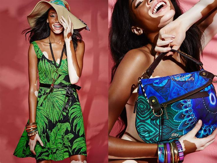 Winnie Harlow for Desigual Spring/Summer 2015 campaign