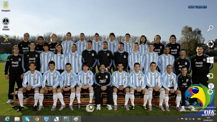 argentina team world cup brasil 2014 | Argentina Football Team Fifa World Cup 2014 Theme For Windows 7 And 8