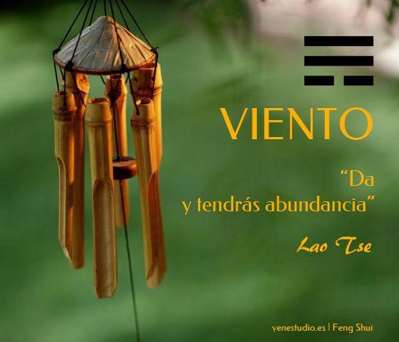 """Periodo energético de viento. """"Da y tendrás abundancia"""" Lao Tse #fengshuiprosperidad #fengshui #viento #fengshuisureste #fengshuiviento #laotse #frasescelebres"""