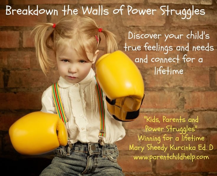 "Stopping power struggles while staying connected to your child for a lifetime.  ""Kids, Parents and Power Struggles by Mary Sheedy Kurcinka Ed.D author of ""Raising Your Spirited Child"""