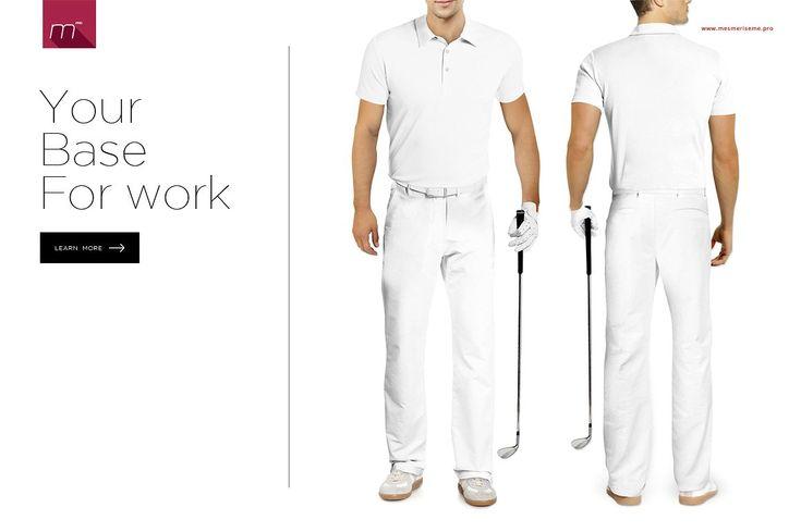 Golf Uniform Mock Up Golf Uniform Mockup Uniform