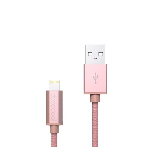 dodocool MFi Certified Braided Lightning to USB Charge and Sync Cable 10ft / 3m for iPhone SE / 6s Plus / 6s / 6 Plus / 6 / 5 / 5s / 5c / iPad Air 1/2 / iPad Pro / iPad mini 1/2/3/4 / iPod touch 5th gen / nano 7th gen Rose Gold