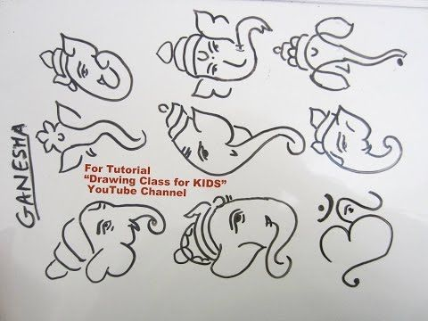 how to draw ganesha in pencil step by step