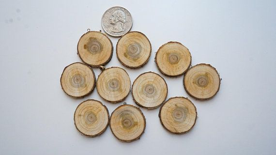 small cherry wood slices, wood slices for pendant making, wood slices for earring making, tree slice jewelry supplies, small log slices