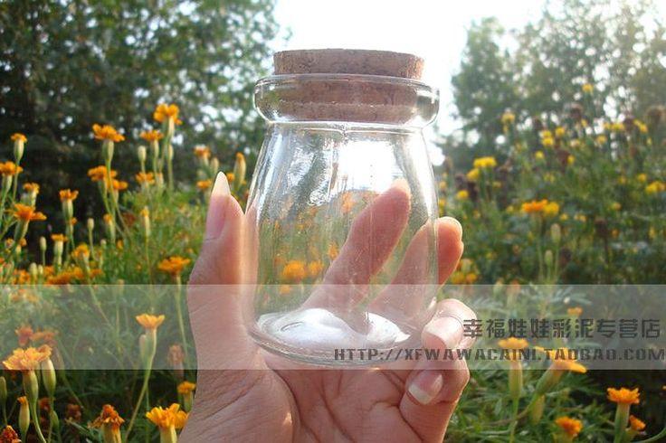 Это флаконах тест баночка глины пробки мир DIY глина прозрачная стеклянная…
