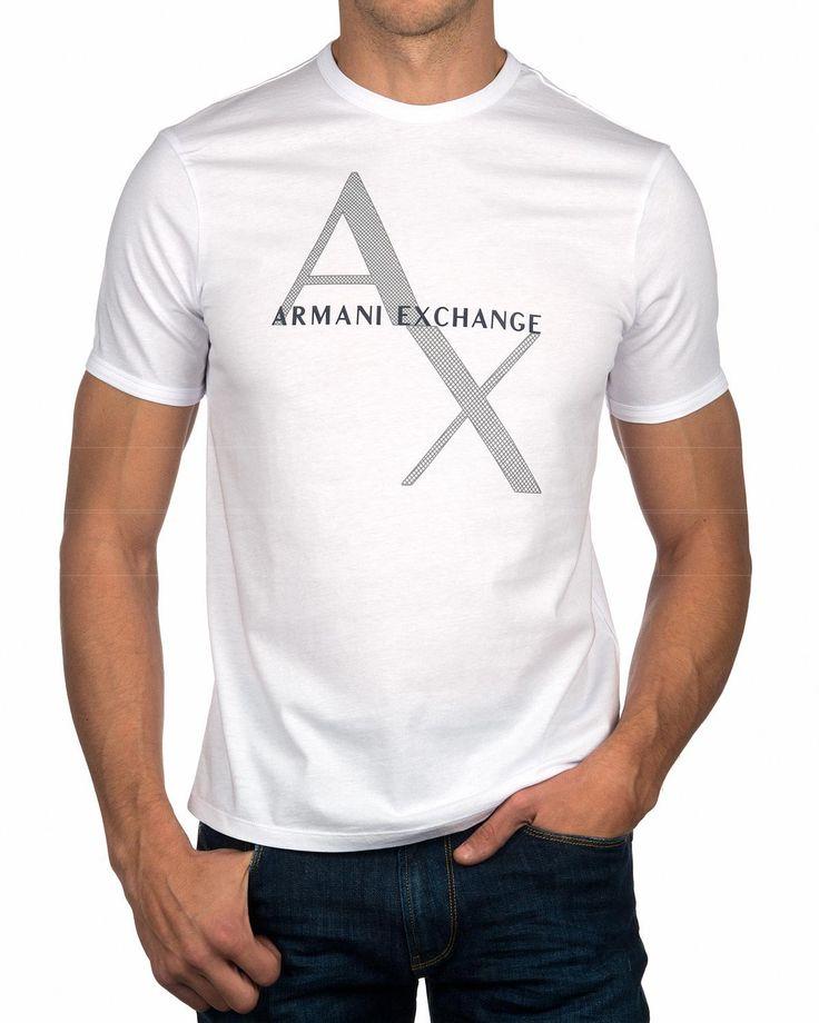 Camiseta ARMANI EXCHANGE ® Blanca Logo   ENVÍO GRATIS