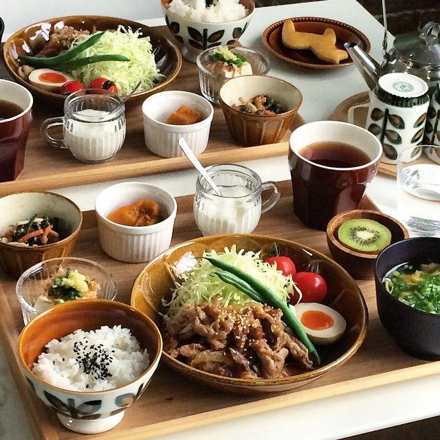 """507 Likes, 30 Comments - fuchi (@fuchibiyori) on Instagram: """"ちょいと近くから。 * bochのカフェオレボウルが、お茶碗にぴったりでした✨"""""""
