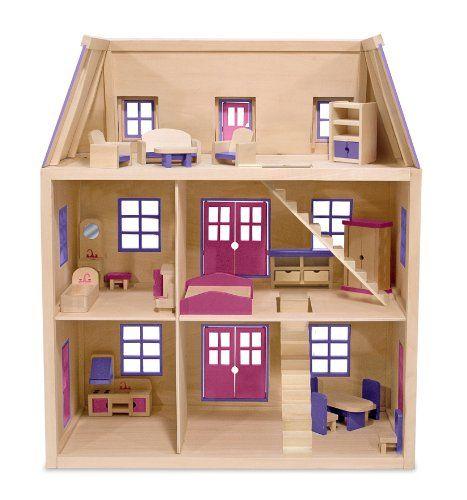 Melissa & Doug - Casa de muñecas de madera de varios pisos (14570): Amazon.es: Juguetes y juegos