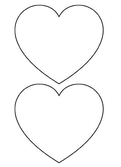 1000 ideas about heart template on pinterest templates for Small heart template to print