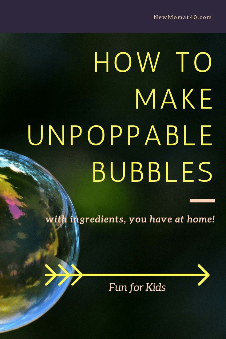 How to Make Unpoppable Bubbles How to Make Unpoppable Bubbles new photo