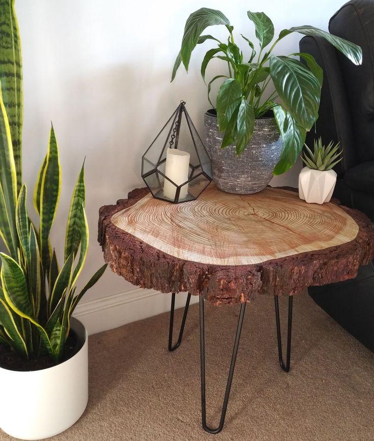 25 round tree slice coffee table rustic live edge wood