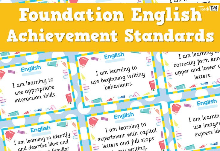 English Achievement Standards - Foundation